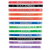 Item# A1KARMA - Colorful Karma Words Bracelets (100pcs @ $0.15/pcs)