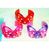 "MINNIEBRAC - 3"" Light Up Minnie Mouse Bow Baracelts (12pcs $0.75/pc)"