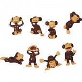 "Item# 1AMONKB - 1.5"" Monkeyin' Around Figurines (100pcs @ $0.10/pc)"
