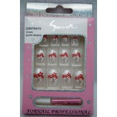CZNAILS2 - Fun Nail Set w Self Adhesive (12pks @ $0.90/pc)