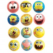 "Item# A1NIC110B - 3"" SpongeBob Foam Balls (50pcs @ $0.50/pc)"