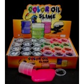 "CZOIL6 - Colorful 2"" Oil Slime (24pcs @ $0.50/pc)"