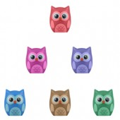 ALOWPTB - Owl Pencil Toppers in Bulk Bag (100 pcs @ $0.15/pc)