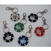 "PCKC - 1.6"" Poker Chip Keychain (12pcs @ $0.39/pc)"