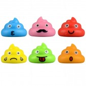"Item# A1POOPB - 1.5"" Emoji Poopster Figures (100pcs @ $0.15/pc)"
