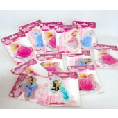 "PRPUFF - Disney Princess Asst. Puff Stickers on 4""x3"" Card (12pcs @ $0.65/pc)"