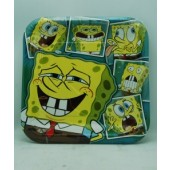 "SBPLATELG - Spongebob 9"" Party Plates (8pcs @ $0.15/pc)"