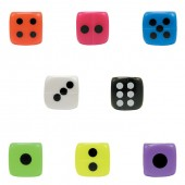 Item# A1SEDIB - 1.25 Colorful Plastic Dice (100pcs @ $0.15/pc)