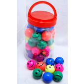 SMILEBALL6 - 45mm Smile Face Bouncy Balls (36pcs @ $0.50/pc)