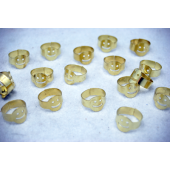 "SMILER - 1"" Metal Smile Ring (144pcs @ $0.03/pc)"