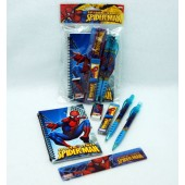 "SMSTAT - 8"" Spiderman 6pc Stationary Set (12pks)"