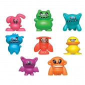 "Item# A1SMUSB - 1"" Assorted Smushy Monster Face Figure (100 pcs @ $0.15/pc)"