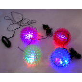 "CZSPIKEBALL6 - 3"" Light Up Spike Ball Comeback Ball (12pcs @ $0.75/pc)"