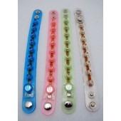 "SPIKE45 - 9"" Flashing Light Up Bracelets w/ Batteries (12pcs @ $0.75/pc)"