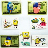 "STISB - 3.5"" Sponge Bob Asst. Stickers & Tattoos (100pcs @ $0.25/pc)"