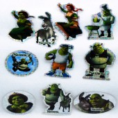 "STISHR - 3"" Shreck Asst. Stickers (100pcs @ $0.25/pc"