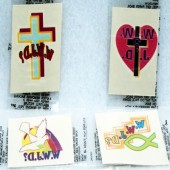 "TATJ - 1.5"" WWJD Tattoos (72pcs @ $0.05/pc)"
