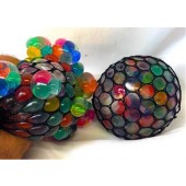 "CZGSB12 - 2.5"" Rainbow Bead Grape Squish Balls (12pcs @ $0.90/pc)"
