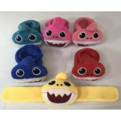 "SHASLAP - Asst. 8"" Plush Baby Shark Slap Bracelets (12pcs @ $0.89/pc)"