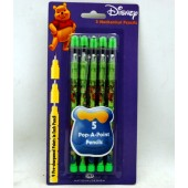 WP5POP - Winnie the Pooh 5Pk Push Pencil (12pcs @ $1.30/pc)