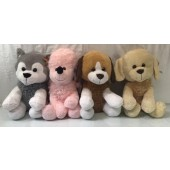 "DOGPL8 - Asst. 15"" Large Plush Sitting Dogs (6pcs @ $12.50/pc)"