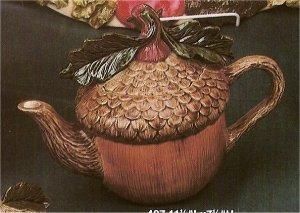 "Acorn Teapot 11.5""L x 7.5""t"