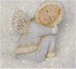 "Winter Cherub Sleeping 4""T"