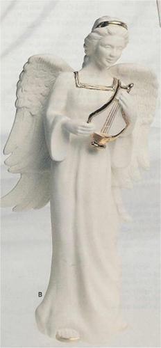 """Angel w/Harp 12""""T"""