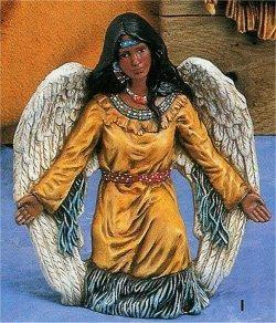 """Indian Angel Kneeling 6.5"""" T"""