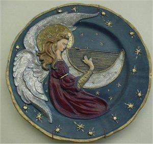 "Angel Plate 9.75"" dia."