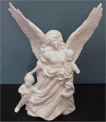 """Angel w/Children 13.5"""""""