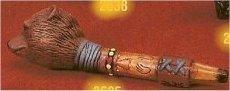 "Sm Bear Peace Pipe 6.5""L"
