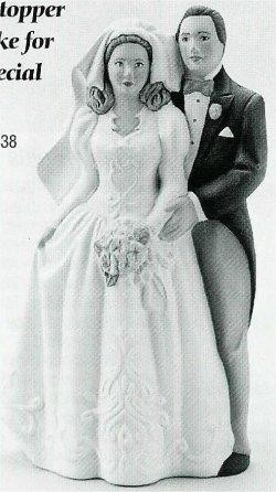 "Duncan Bridal Cake Topper 8""T"