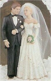 "Bride & Groom 7.5""t veil Not Included"