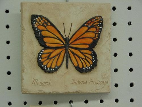 Butterfly Plaque 5.5""