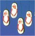 """Flip Flop Ornaments (4) 2.5""""L"""