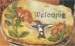 "Welcome Hummingbirds Slab 10"""