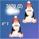 "Penguin Ornaments (2) 4""t"