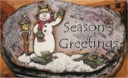 """Seasons Greetings Slab 10"""""""