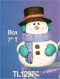 """TL  Snowman Box 7""""T"""