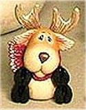 """Tubby Deer Sitting 3""""t"""