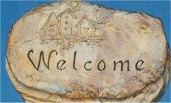 "Welcome Slab 10""x6.5"""