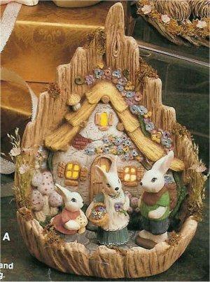 """Carved Easter Village 9.5""""T"""
