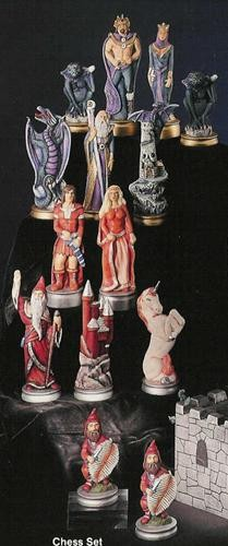 "Myst. Chess Figures Only 7""T Unpainted"