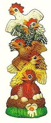 """Stack of Chickens 10""""t"""