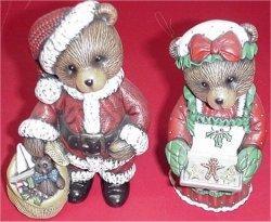 "Mr & Mrs Claus Bears 6.5"" Set"
