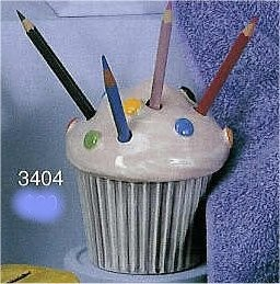 "Cupcake Pencilholder 4.25""T pencils/ncld."