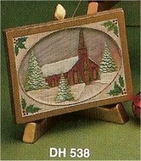 "DH Country Church Card 4.5x6.5"" Easel sold sep."