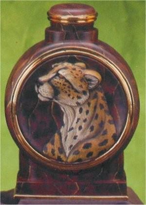 "Cheetah Decanter 13.5""T"
