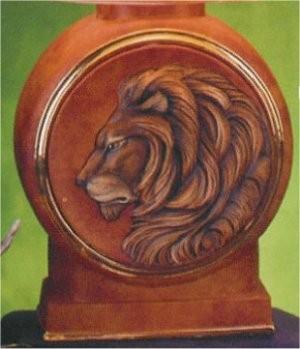 """Lion Decanter w/Lid 13.5"""""""